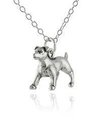 Jack Russell Terrier Dog Necklace - 925 Sterling Silver