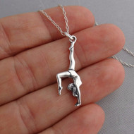 Gymnast Necklace - 925 Sterling Silver