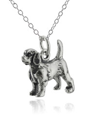 Beagle Dog Necklace - 925 Sterling Silver