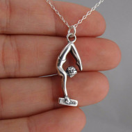 Gymnast 3D Necklace - 925 Sterling Silver