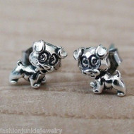 Puppy Earrings - 925 Sterling Silver