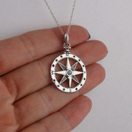 Compass Pendant Necklace - 925 Sterling Silver