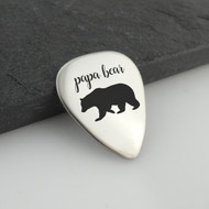 Metal Papa Bear Guitar Pick