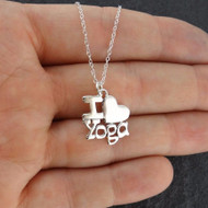 I Love Yoga Necklace - 925 Sterling Silver