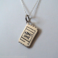 Movie Stub Necklace - 925 Sterling Silver