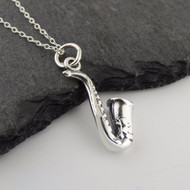 Saxophone Necklace - 925 Sterling Silver