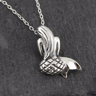 Mermaid Necklace - 925 Sterling Silver, Backside