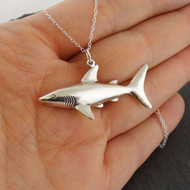 Shark Pendant Necklace - 925 Sterling Silver