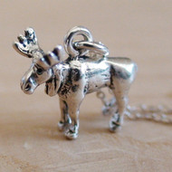 MOOSE  Sterling Silver Charm Necklace