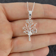 Tree of Life with Swirl Necklace - 925 Sterling Silver
