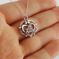 15 Años Heart Necklace - 925 Sterling Silver