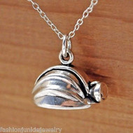 Miners Hard Hat Necklace - 925 Sterling Silver