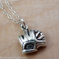 Tiny Catchers Mitt Necklace - 925 Sterling Silver