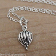 Tiny Hot Air Balloon Necklace - 925 Sterling Silver