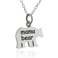 Mama Bear Double-Sided Necklace - 925 Sterling Silver
