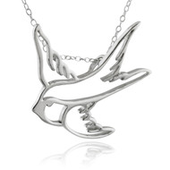 Sparrow Outline Pendant - 925 Sterling Silver
