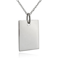 Blank Engravable Rectangle Pendant - 925 Sterling Silver