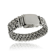 Men's Sterling Silver Heavyweight Double Byzantine Bracelet