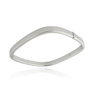 Square Bangle Bracelet - 925 Sterling Silver