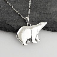 Polar Bear Necklace - 925 Sterling Silver