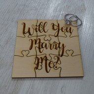 Will You Marry Me Proposal Puzzle Piece - Basswood Lasered Jigsaw Puzzle