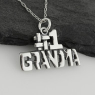 #1 Grandma Charm Necklace - 925 Sterling Silver