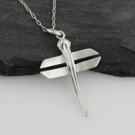 Origami Dragonfly Necklace - 925 Sterling Silver - 3D Pendant