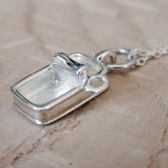 CAN OF SARDINES - Sterling Silver Charm Necklace