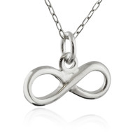 Infinity Sign Necklace - 925 Sterling Silver - Friendship Charm Love NEW