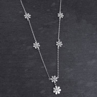 Flower Y Necklace - Sterling Silver