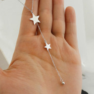 Star Y Necklace - 925 Sterling Silver