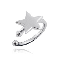 Star Ear Cuff Earring - 925 Sterling Silver