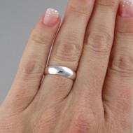 5mm Plain Band Wedding Ring - 925 Sterling Silver
