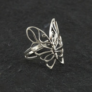 Sterling Silver Butterfly Outline Ring, Size 7