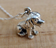 Beagle Puppy Dog Charm Necklace - Sterling Silver
