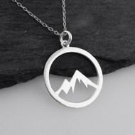 Mountain Peaks Cutout Necklace - 925 Sterling Silver