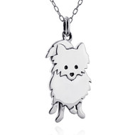 Pomeranian Pendant Necklace - 925 Sterling Silver