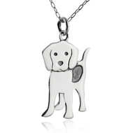 Sterling Silver Beagle Charm Necklace