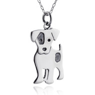 Sterling Silver Jack Russell Terrier Dog Charm Necklace