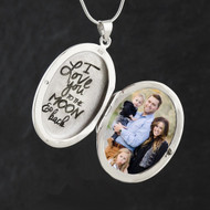 I Love You to the Moon and Back Engraved Locket - 925 Sterling Silver