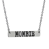 MOMBIE Horizontal Bar Necklace - Stainless Steel