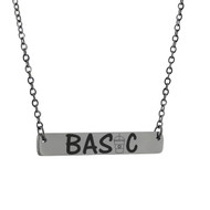 Basic Horizontal Bar Necklace - Stainless Steel