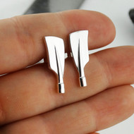 Rowing Oar Cuff Links - 925 Sterling Silver