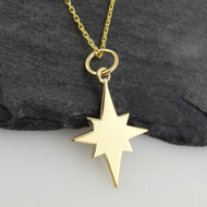 North Star Necklace - 14K Gold Plated Sterling Silver