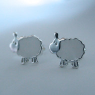 Sterling Silver Sheep Earrings