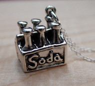 SODA SIX PACK- Sterling Silver Charm Necklace