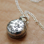 HAMBURGER - Sterling Silver Charm Necklace