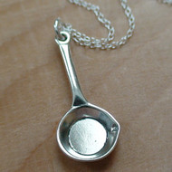 FRYING PAN - Sterling Silver Charm Necklace