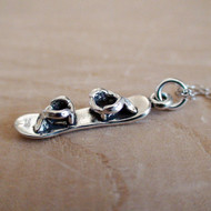 SNOWBOARD - Sterling Silver Charm Necklace