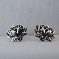 Sterling Silver Lotus Flower Earrings